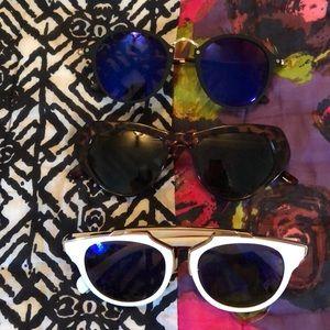 3 pairs of fashion sunglasses